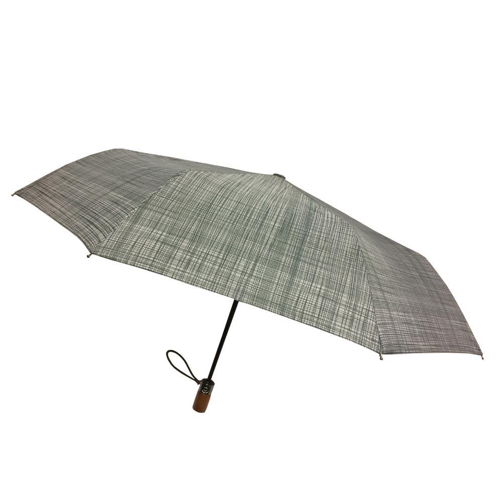 44 in. Arc Canopy 3 Sectional Telescopic Mini Auto Open Auto Close Umbrella in Hatch