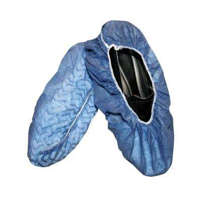 Polypropylene Non-Skid Blue Shoe Covers Size Large (50 Pair per Box)