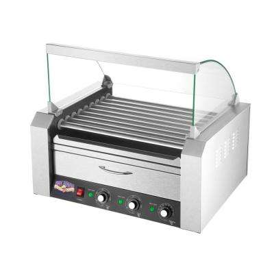 9-Hot Dog Roller Grill with Bun Warmer and Cover