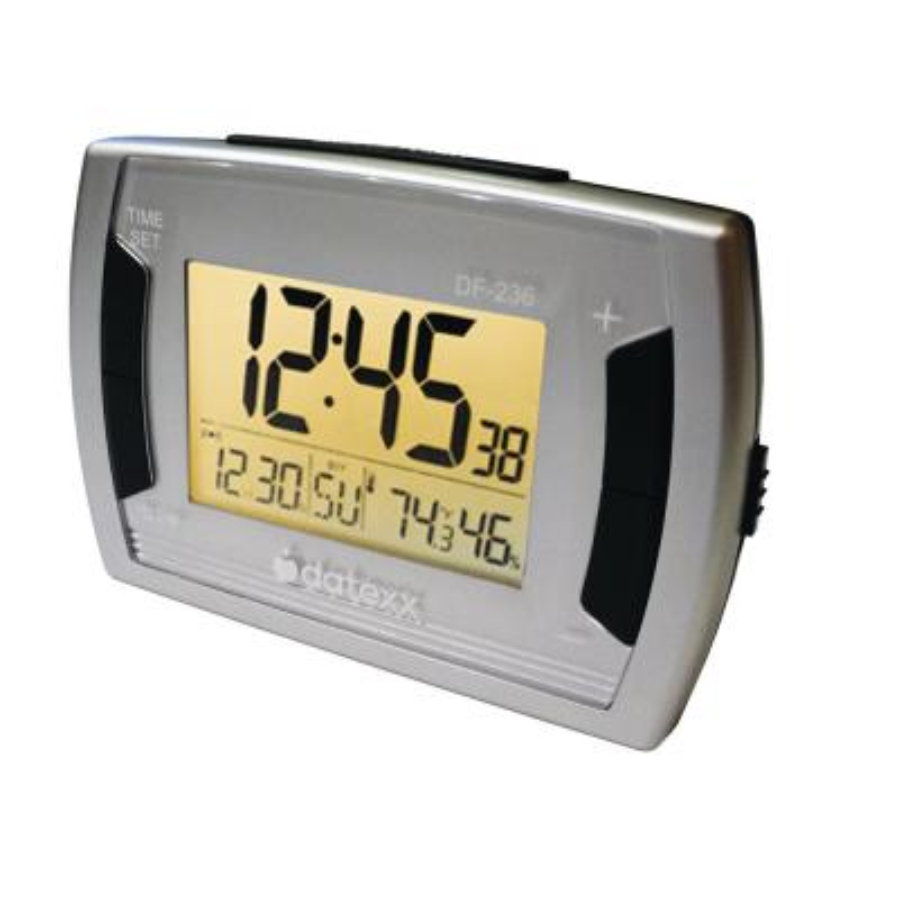 Desk Alarm Clock/Calendar with Temperature and Humidity