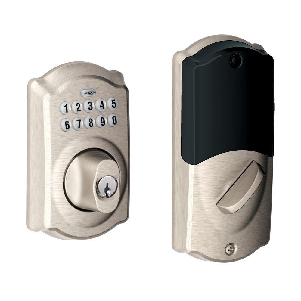 Schlage Satin Nickel Home Keypad Deadbolt with Nexia Home Intelligence-DISCONTINUED