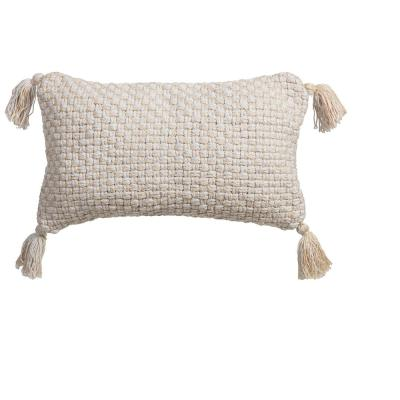 Aritizia Outdoor Lumbar Throw Pillow with Corner Embellishments
