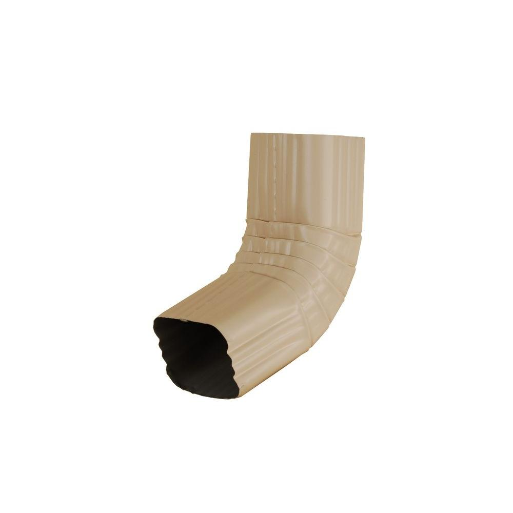 3 in. x 4 in. Light Maple Aluminum Downspout A Elbow