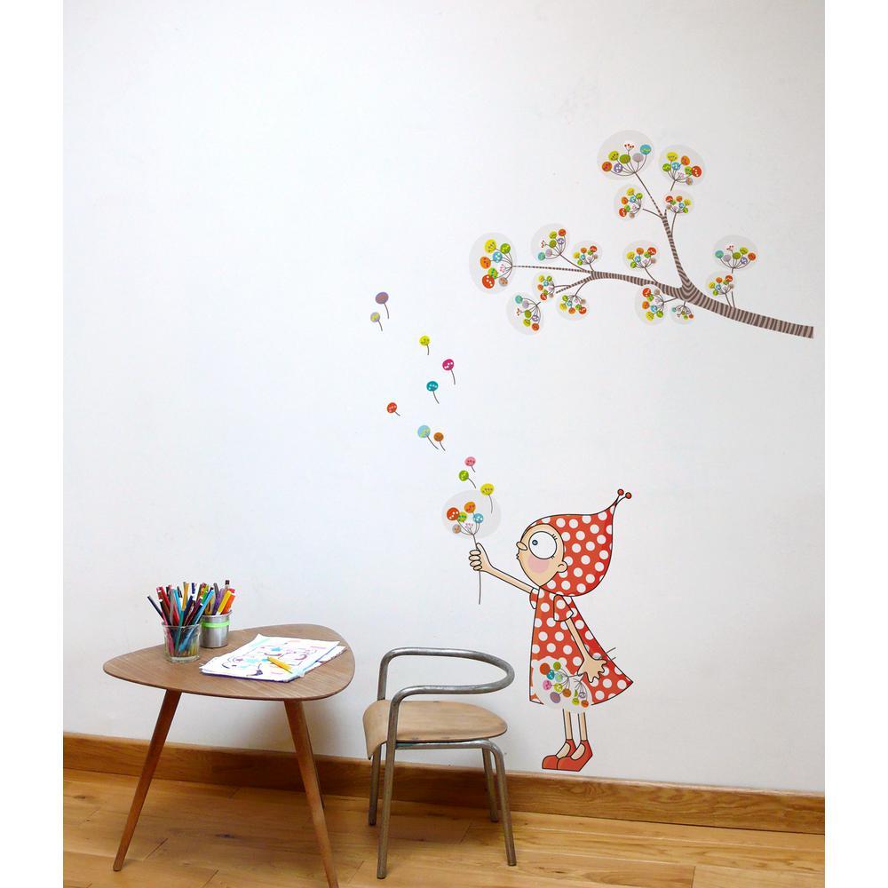 "(48 in x 68 in) Multi-Color ""Zen Garden"" Kids Wall Decal"
