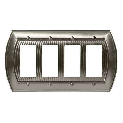 Sea Grass 4-Rocker Wall Plate, Satin Nickel