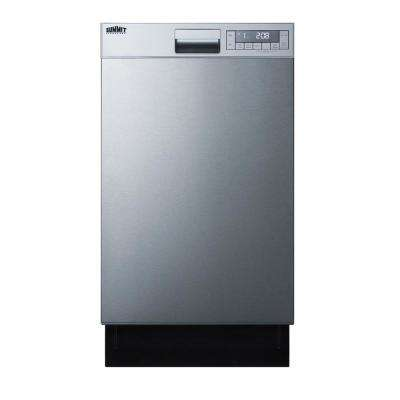 18 in. Front Control Dishwasher in Stainless Steel