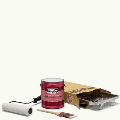 1 gal. #PPU18-06 Ultra Pure White Ultra Matte Interior Paint and 5-Piece Wooster Set All-in-One Project Kit