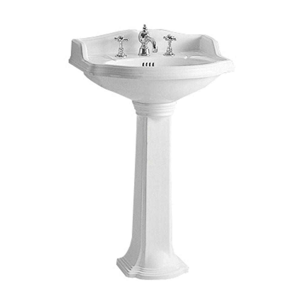 whitehaus collection china series small traditional pedestal combo bathroom sink in white ar814