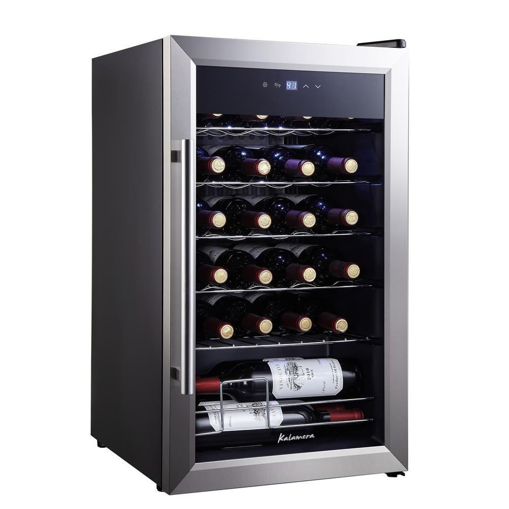 Kalamera 80 Bottle Single Zone Freestanding Compressor Wine Cooler