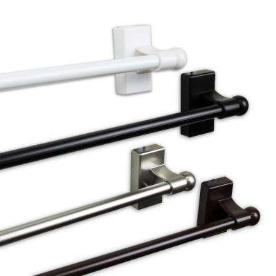 Magnetic 7/16 in. Dia 28 in. - 48 in. Long Rod in Satin Nickel