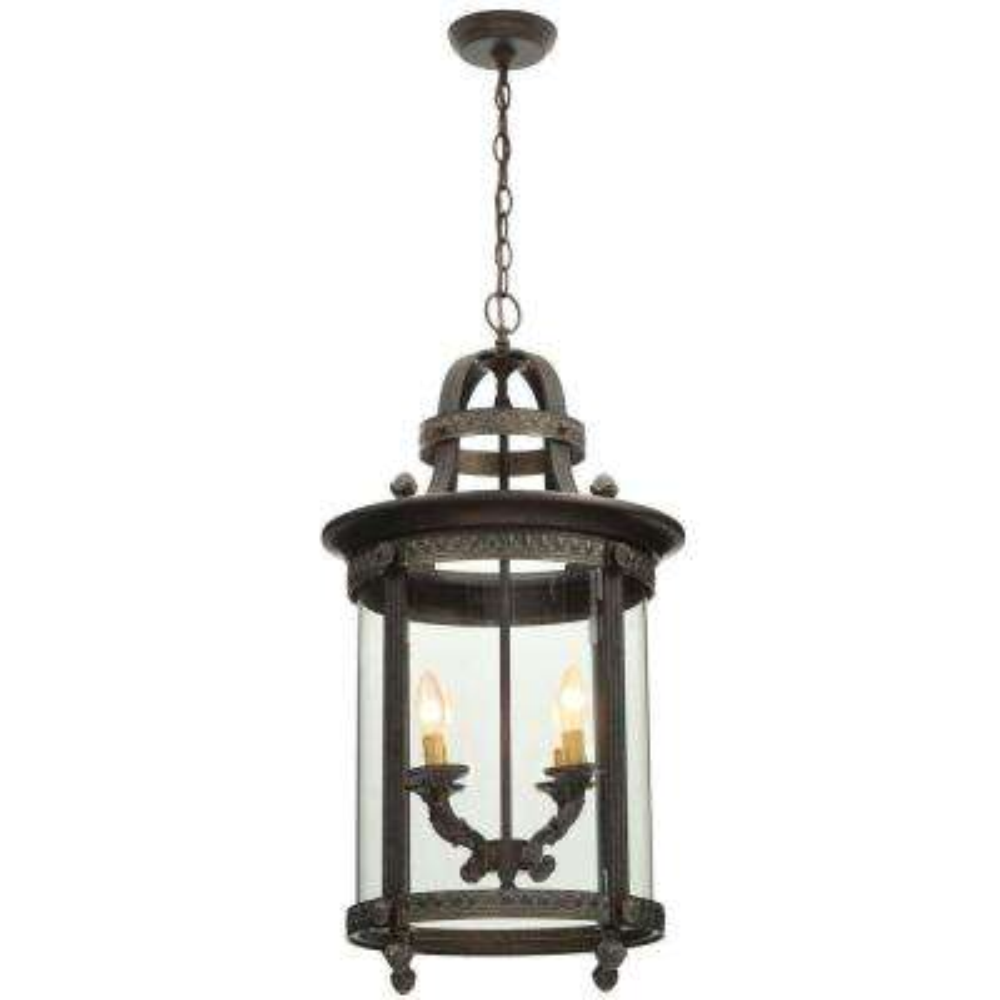 Chatham Collection 4-Light French Bronze Hanging Interior Lantern