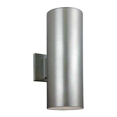 Outdoor Cylinder Collection Painted Brushed Nickel Wall Lantern