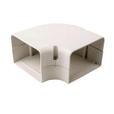 SpeediChannel 4 in. 90 Degree Flat Bend for Ductless Mini-Split Line-Set Cover System