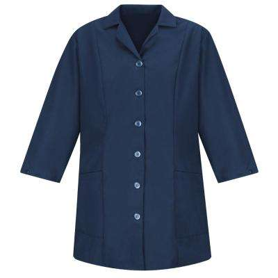 Women's Size 3XL Navy Smock Fitted Adjustable Sleeve