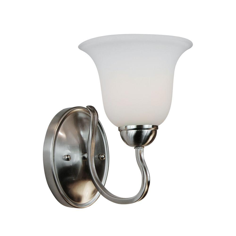 Stewart 1 Light Brushed Nickel Incandescent Sconce