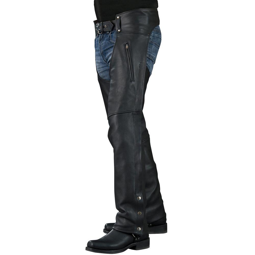 Mossi Standard 4X-Large Black Chaps-DISCONTINUED