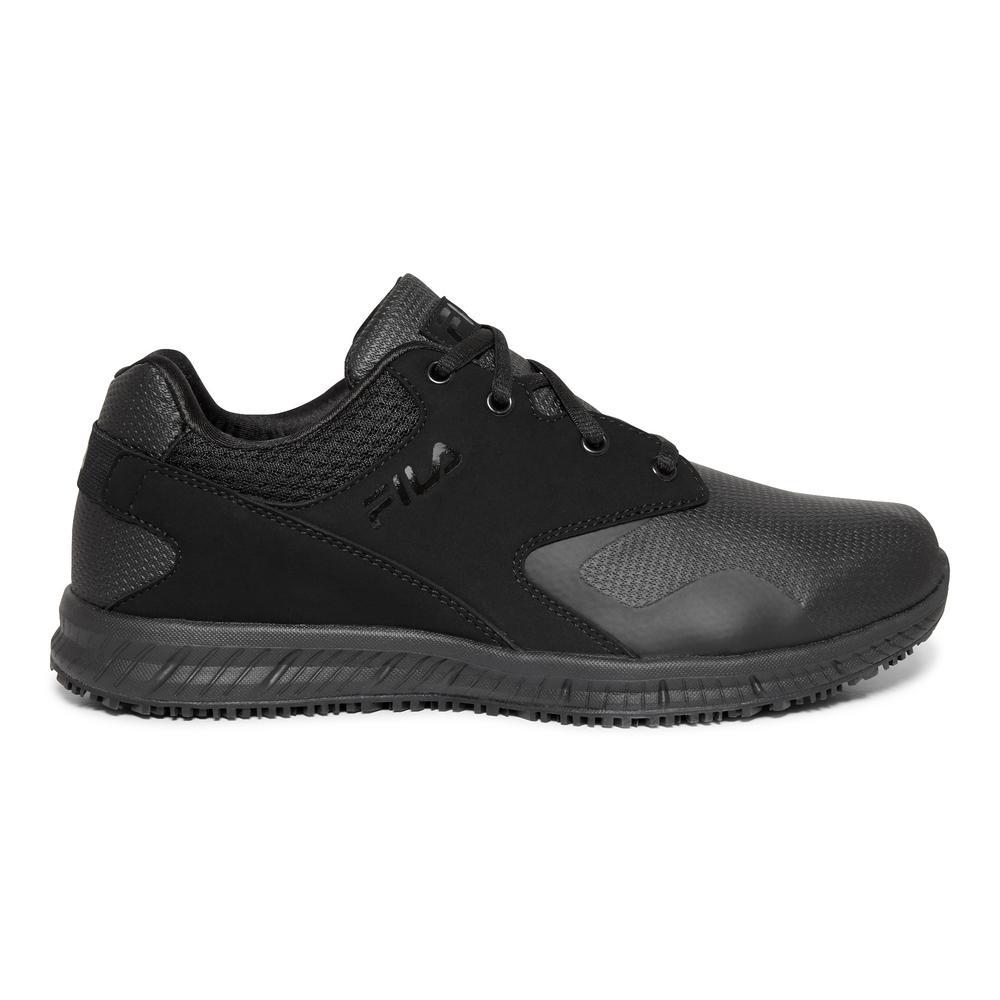 Fila Men's Memory Layers Slip Resistant Athletic Shoes Soft Toe BLACK Size 11.5(M)