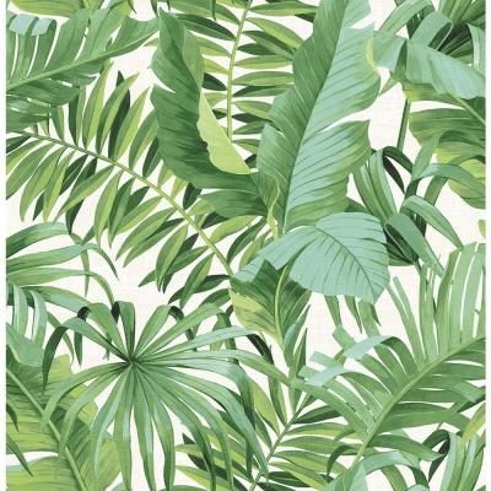Maui Peel and Stick Wallpaper Green Wallpaper Sample