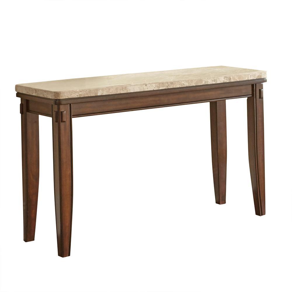 Eileen White Marble Top Sofa Table