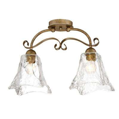 Gold SemiFlushmount Lights Ceiling Lights The Home Depot