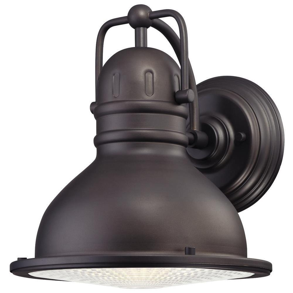 Westinghouse Orson 1-Light Oil Rubbed Bronze Outdoor Integrated LED Wall Lantern Sconce
