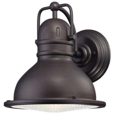 Orson 1-Light Oil Rubbed Bronze Outdoor Integrated LED Wall Mount Lantern