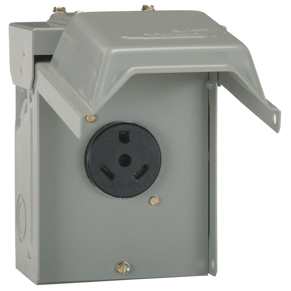Ge 30 amp temporary rv power outlet u013p the home depot swarovskicordoba Image collections