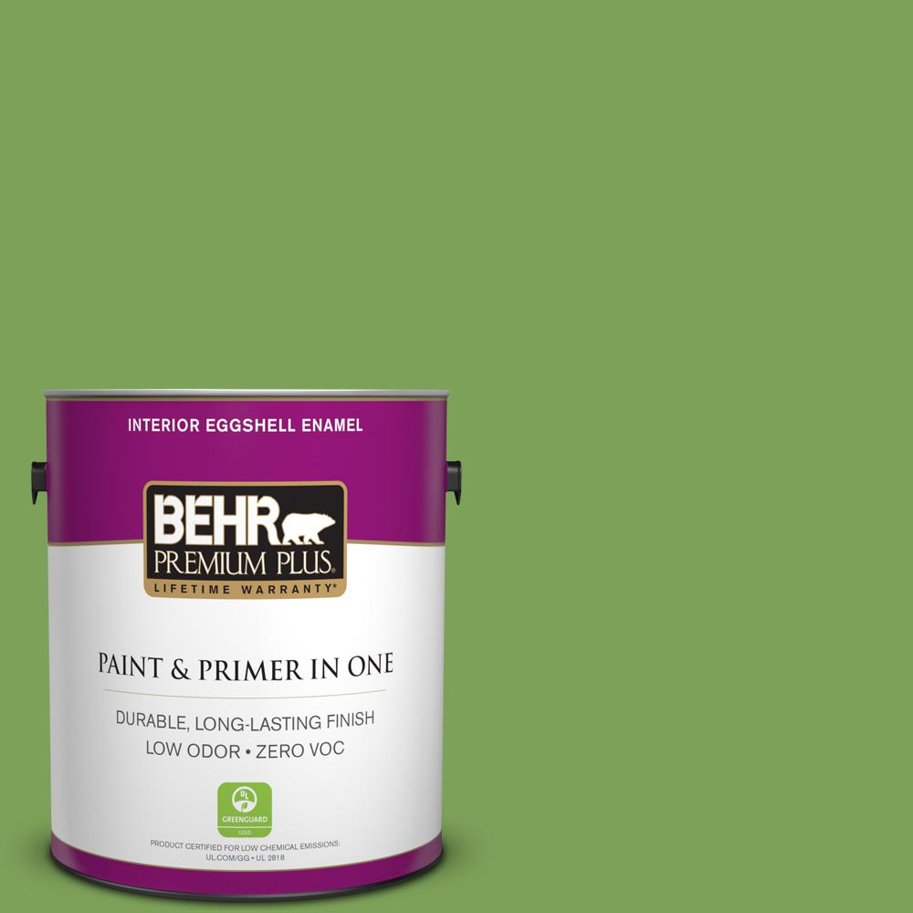 1-gal. #P380-6 Springview Green Eggshell Enamel Interior Paint