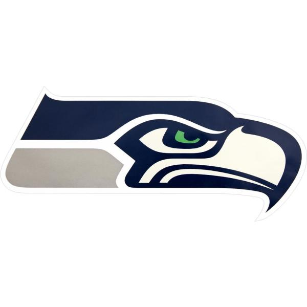 Applied Icon Nfl Seattle Seahawks Outdoor Logo Graphic Small Nfop2901 The Home Depot