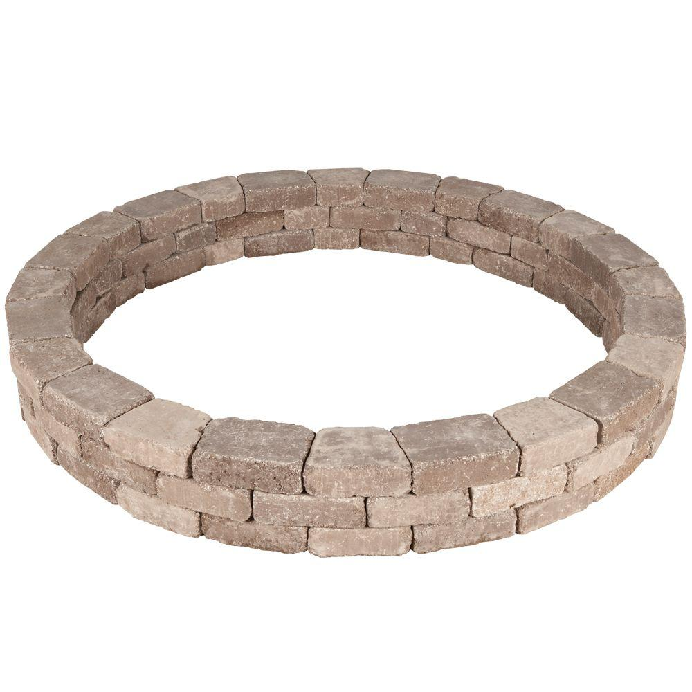 Pavestone RumbleStone 79.5 in. x 10.5 in. Tree Ring Kit in Cafe