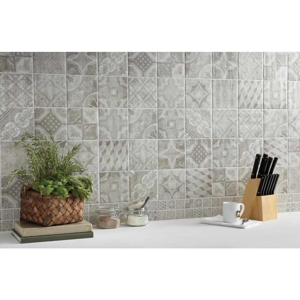 Marazzi Eclectic Vintage Timeworn Painted 4 In X 12 Ceramic Decorative Accent Wall Tile 0 33 Sq Ft Piece
