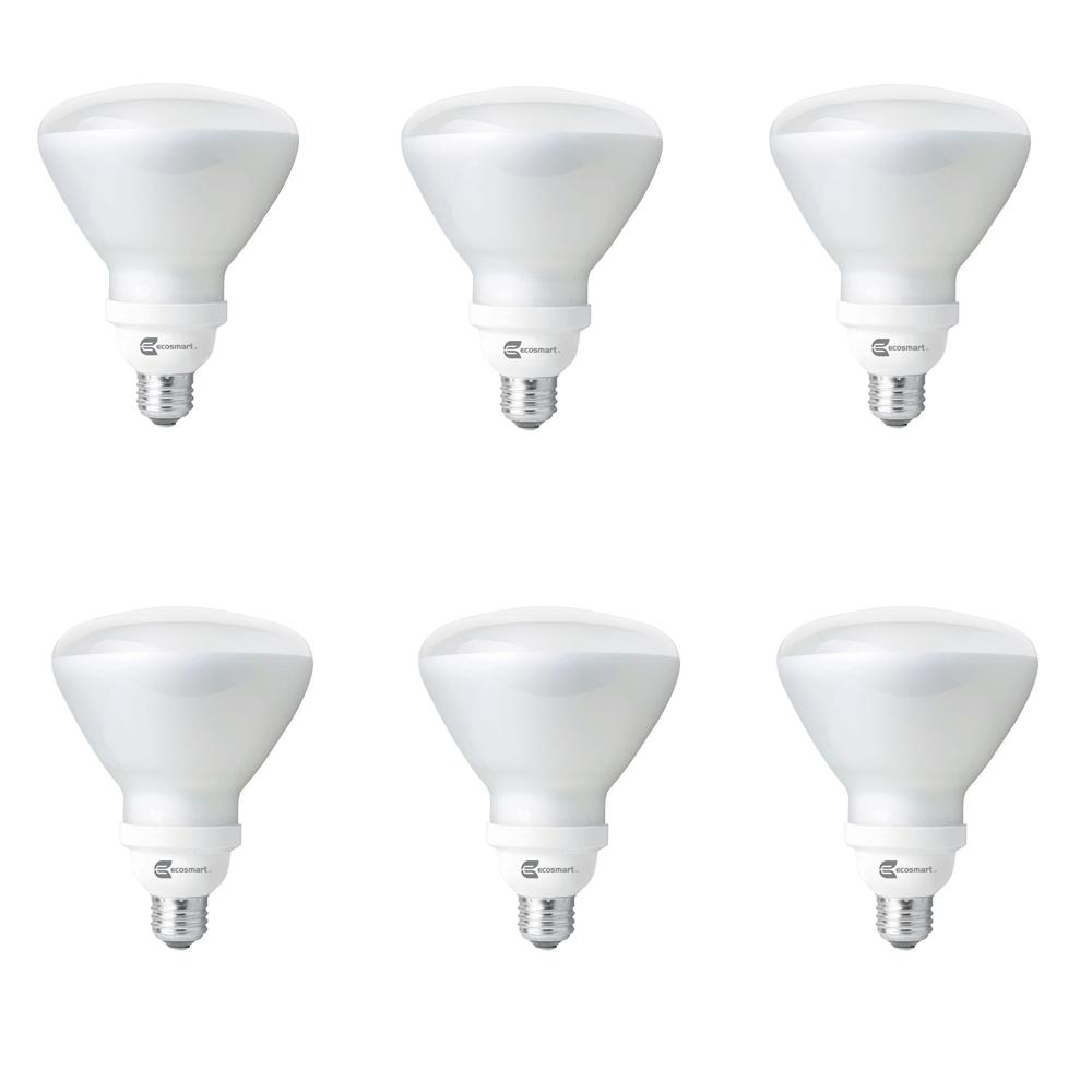 Ecosmart 85 Watt Equivalent R40 Non Dimmable Cfl Light Bulb Soft