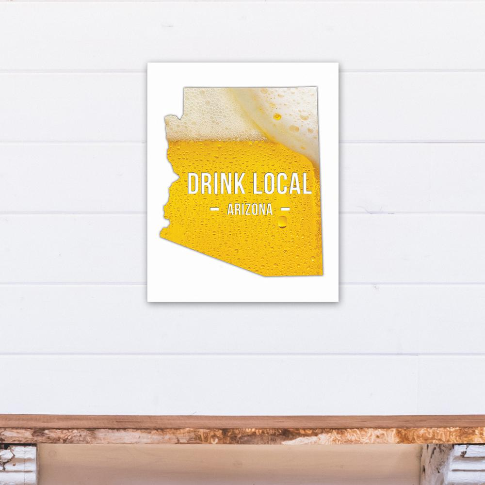 Designs direct 16 in x 20 in arizona drink local beer for Direct from the designers