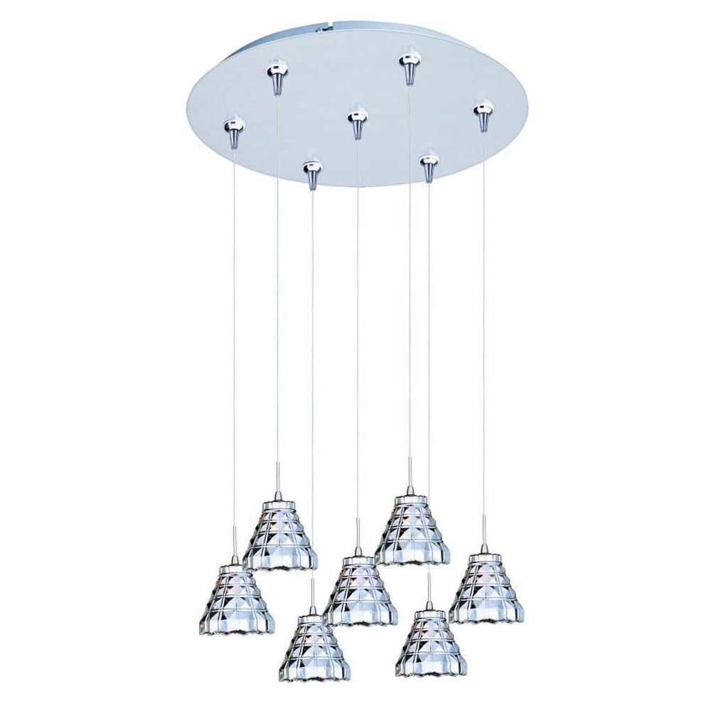 CLI Coit 7-Light Satin Nickel Xenon Pendant