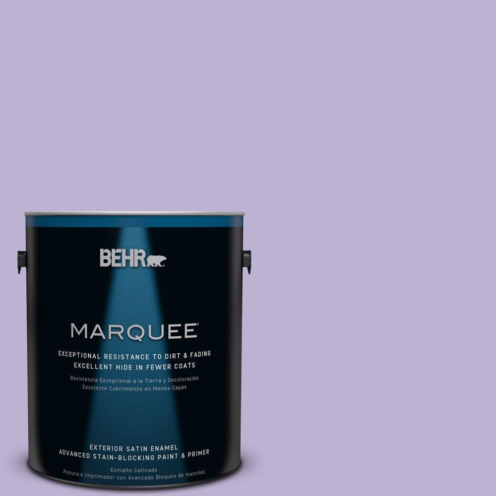 1-gal. #M560-3 Grape Hyacinth Satin Enamel Exterior Paint