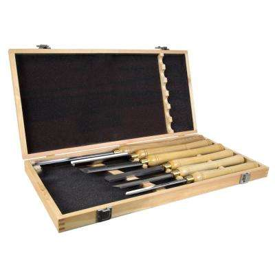 16 in. to 22 in. Artisan Chisel Set with High-Speed Steel Blades and Domestic Ash Handles (6-Piece)