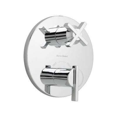 Berwick 2-Handle Thermostatic Valve Trim Kit with Separate Volume Control in Polished Chrome (Valve Not Included)