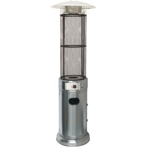 Cambridge 6 ft. 34000 BTU Stainless Steel Cylinder Patio Heater with Glass Flame Display by Cambridge