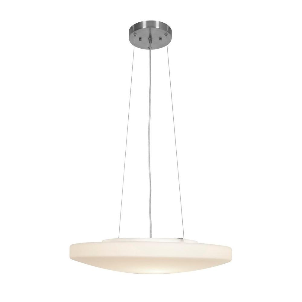 Filament Design Vista 3 Light Brushed Steel Incandescent Pendant-DISCONTINUED