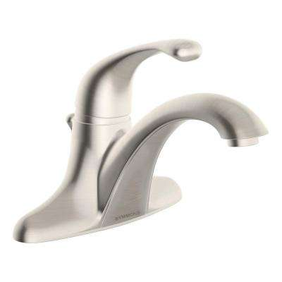 Unity 4 in. Centerset Single-Handle Bathroom Faucet with Drain Assembly in Satin Nickel