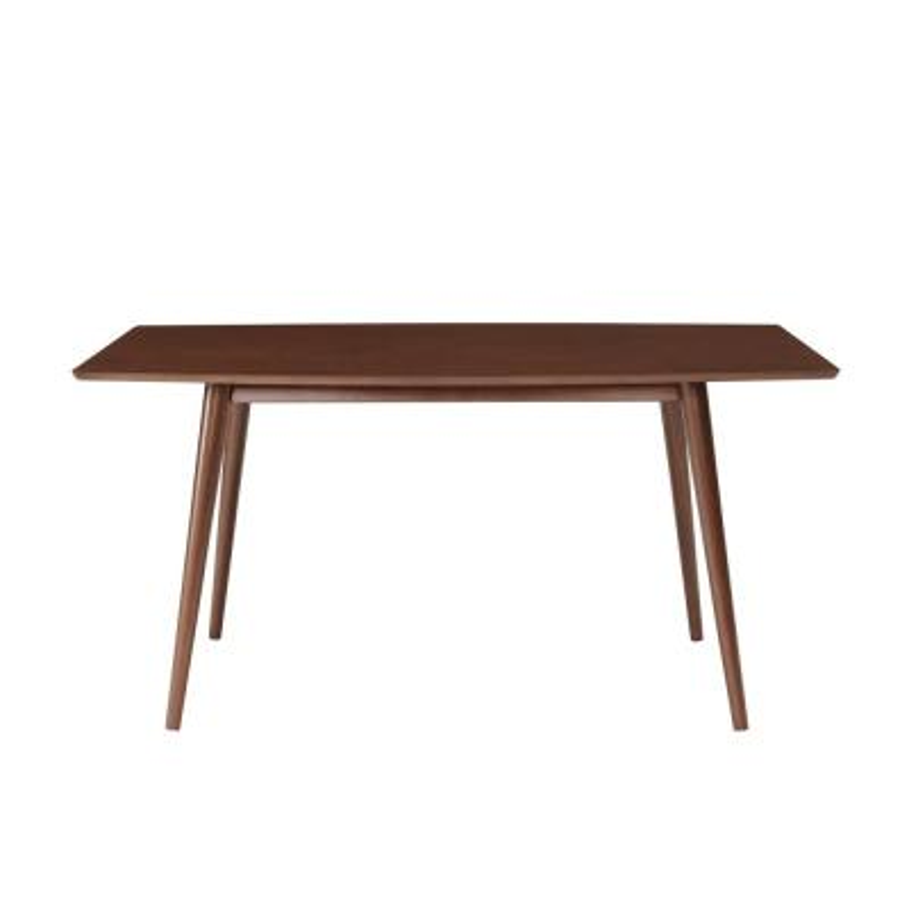 60 in. Walnut Mid-Century Dining Table