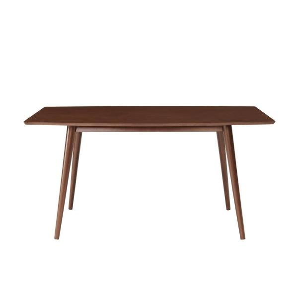 60 in. Walnut Mid-Century Dining Table
