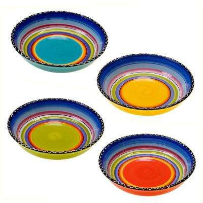 9.25 in. Tequila Sunrise Soup and Pasta bowl (Set of 4)