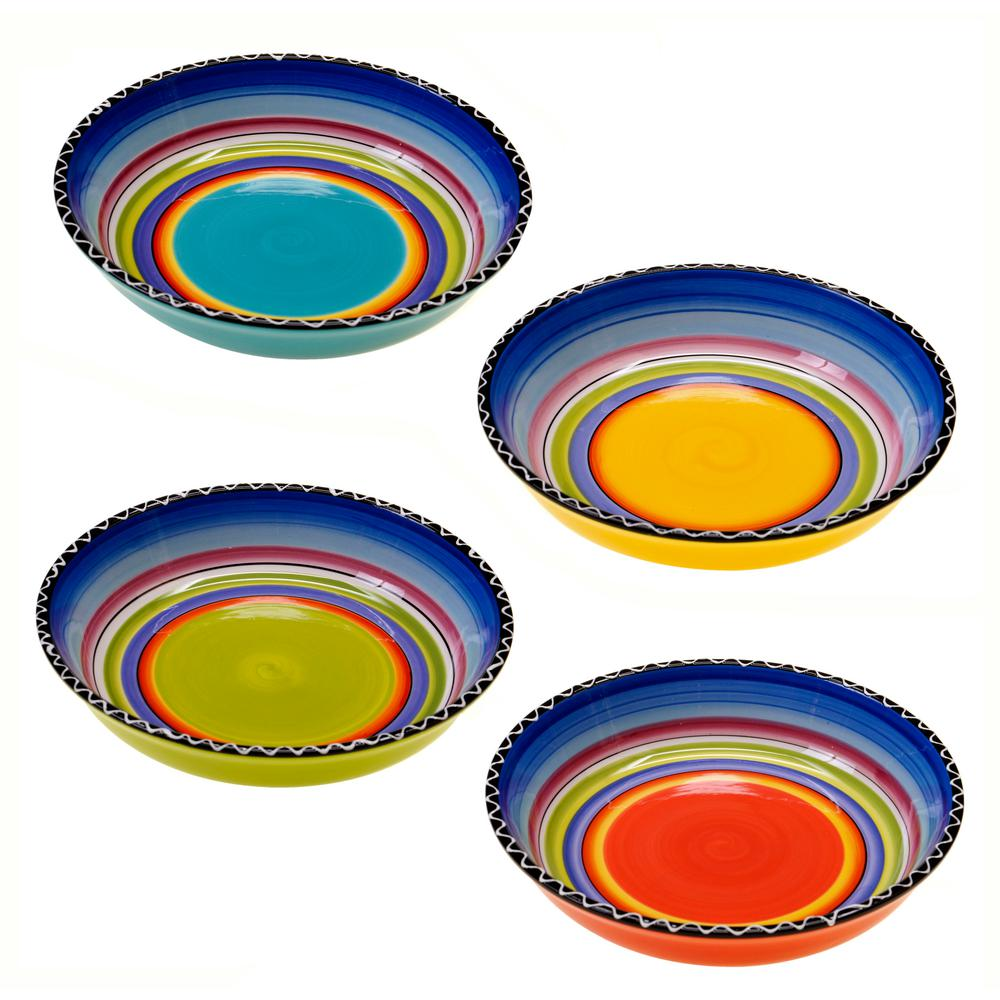 Tequila Sunrise 9.25 in. Soup and Pasta Bowl (Set of 4)