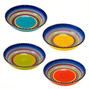 Certified International Tequila Sunrise 9.25 inch Soup and Pasta Bowl (Set of 4) by Certified International