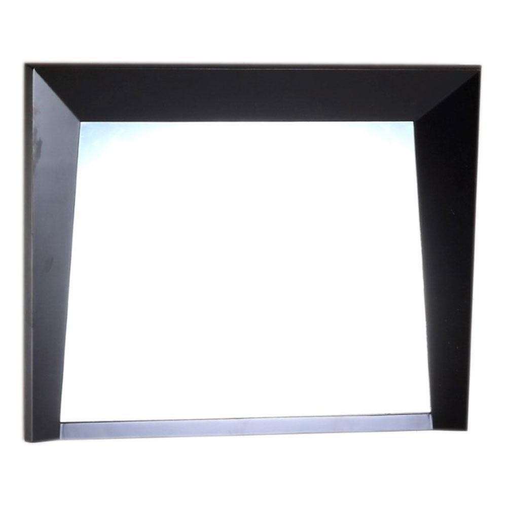Colfax 36 in. x 26 in. Single Framed Wall Mirror in Dark Espresso