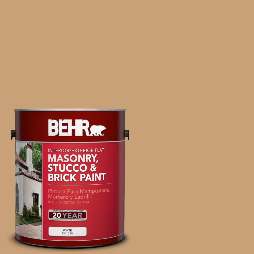 1 gal. #BXC-70 Fresh Sawdust Flat Interior/Exterior Masonry, Stucco and Brick