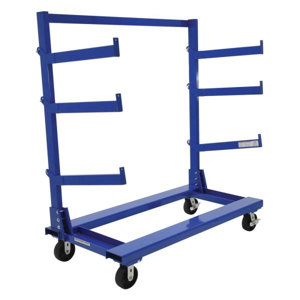 30 x 1.625 x 4 Vestil CANT-A36 Portable Cantilever Cart Arms Silver Pack of 2