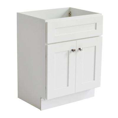 Brookings Ready to Assemble 30 in. W x 21 in. D 2-Door Shaker Style Bath Vanity Cabinet Only in White