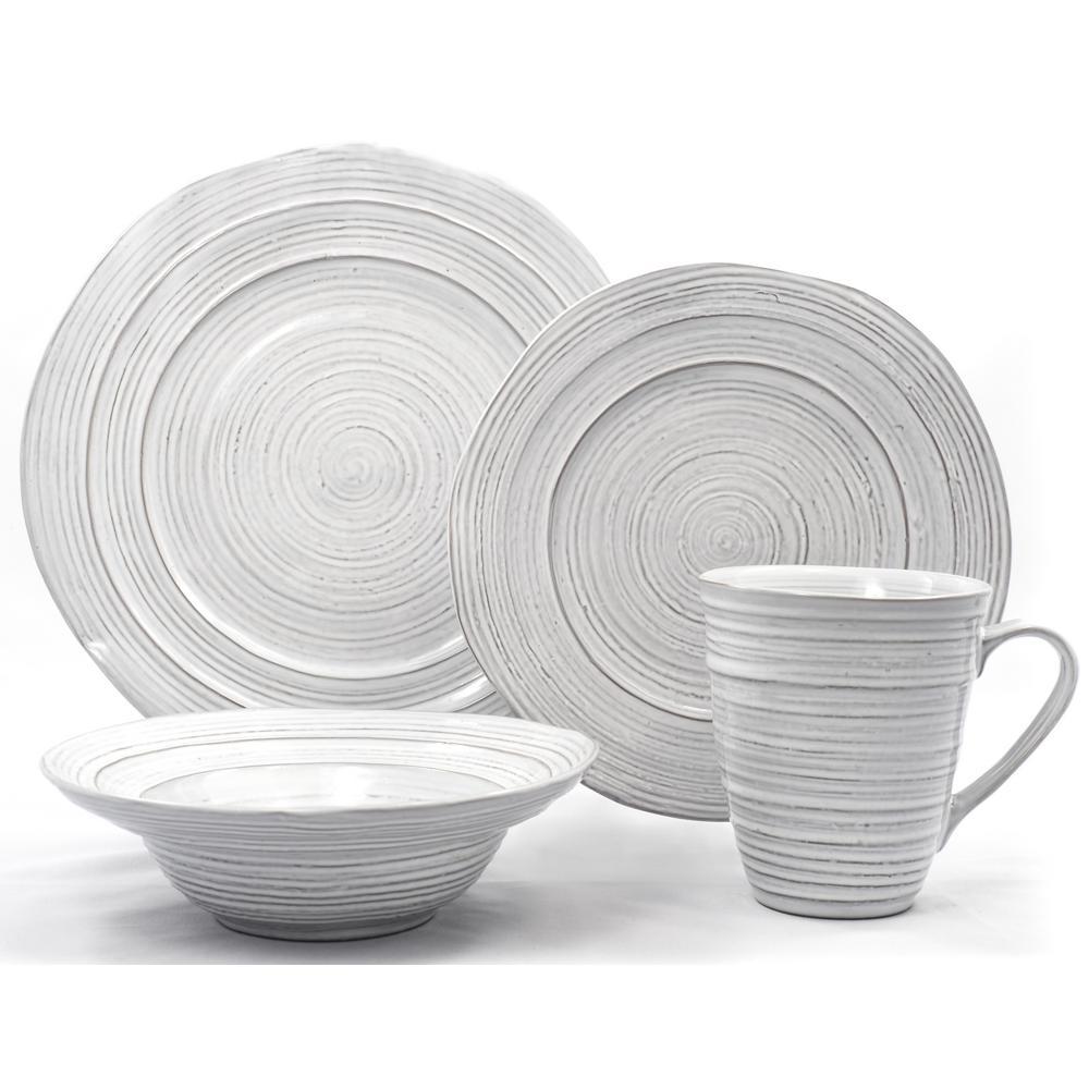 Dinnerware 16-Piece White Barolo Dinnerware Set